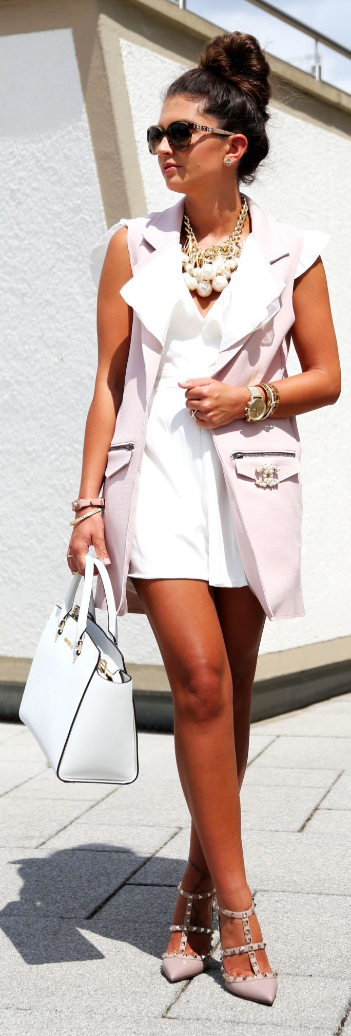 White And Pastel Summer Outfit by Fashion Hippie Loves