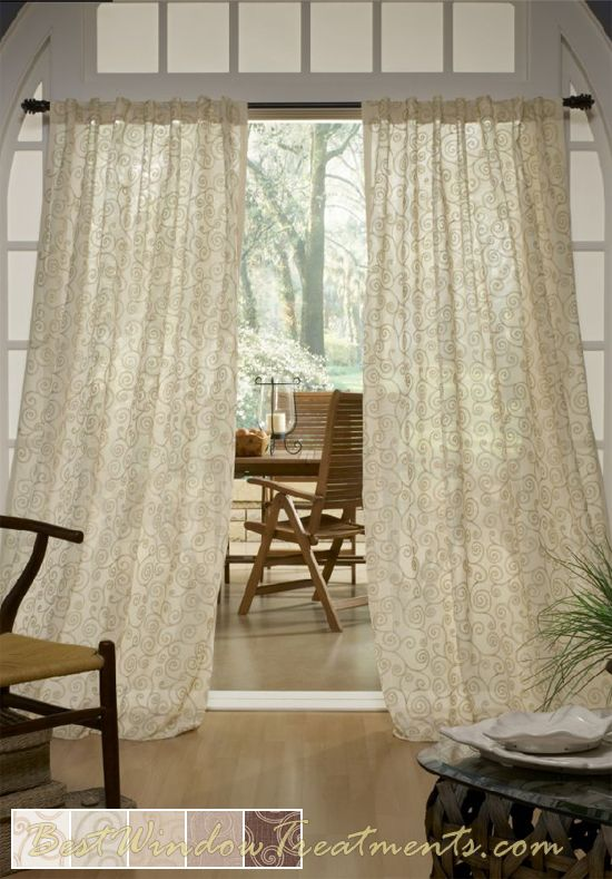 Geneva Curtain Panel Is Available In 5 Earth Tone Colors