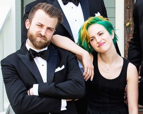 Hayley and Jeremy...he looks soooo good in a suit