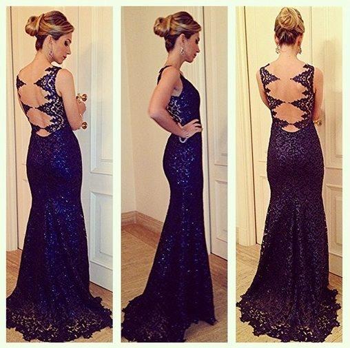 Renda azul | Party Dress (long) | Pinterest