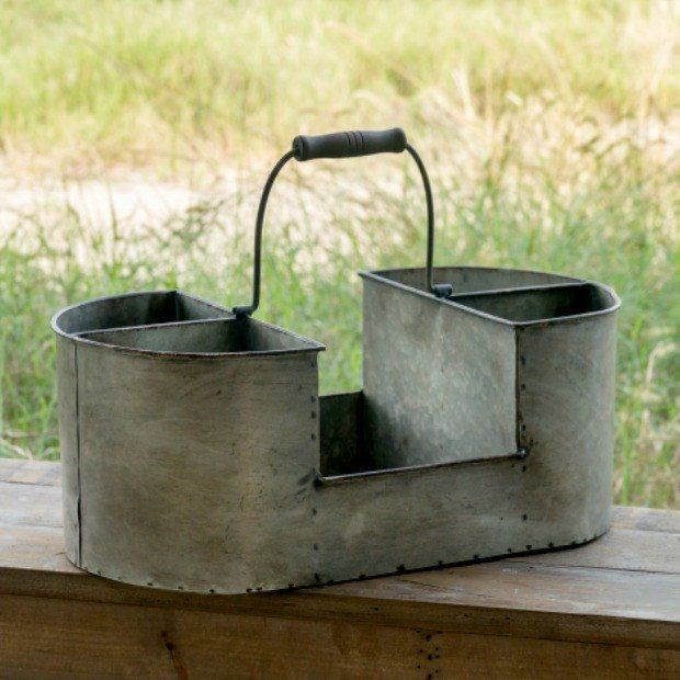 Metal Farmhouse Flatware Caddy