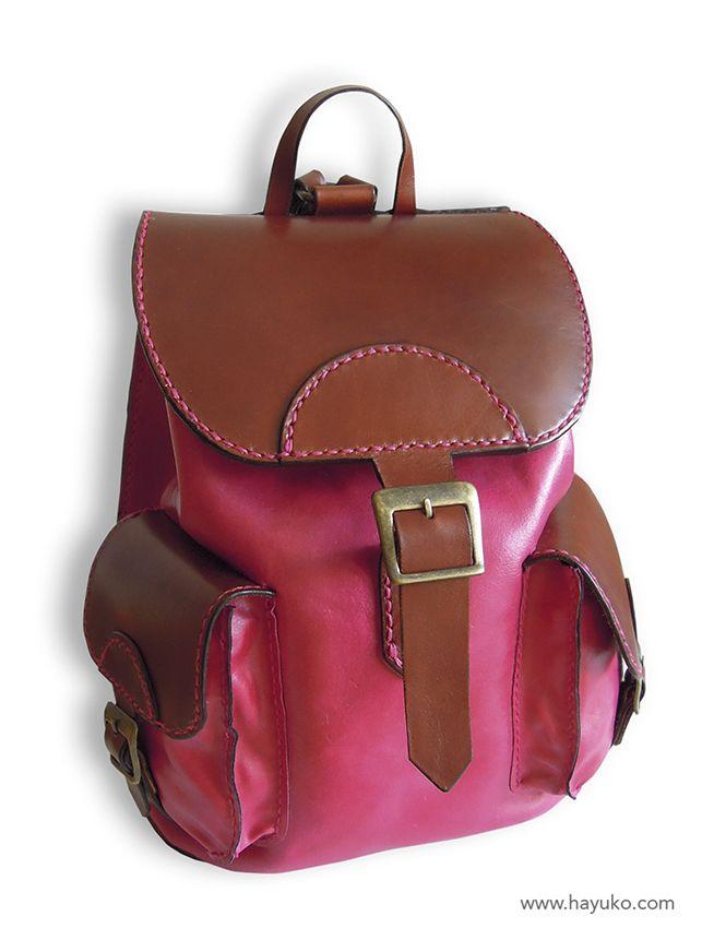 Mochila rosa. Pink backpack.  https://www.etsy.com/es/shop/HayukoCueroyPapel www.hayuko.com  https://www.facebook.com/hayukocueroypapel  https://www.instagram.com/hayukocrafts/ https://www.pinterest.com/infohayuko http://issuu.com/hayukocueropapel