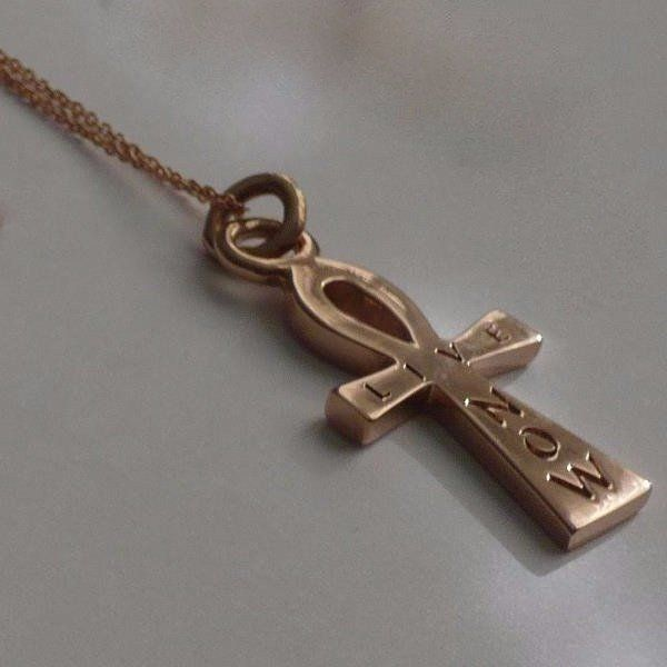 #paulinajewelry #ankh #solidgold #livenow #beautiful #handmade #jewelry The William Live Now Ankh is made by hand in solid gold and Italian gold chains. Made by hand in USA. Also available in solid sterling silver. www.paulinajewelry.com