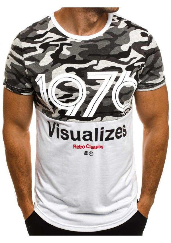 Herren T-Shirt Weiß – J.Style SS129 - T-Shirts - OZONEE