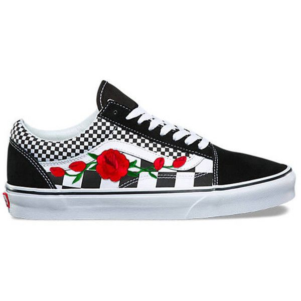 flower vans shoes