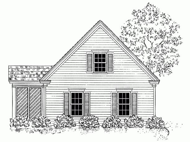 garage with cottage 2-story