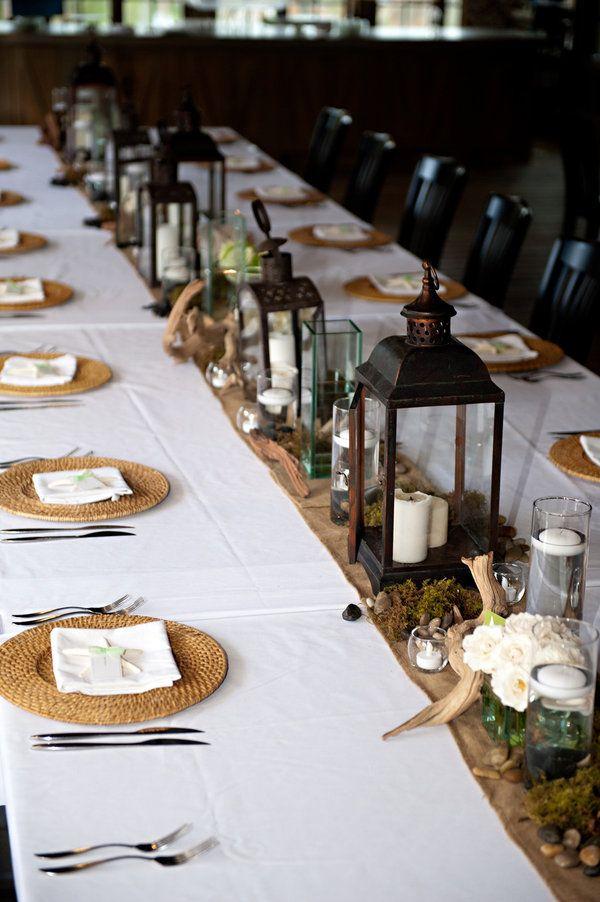 Una #decoración de #boda con velas.. que lindo