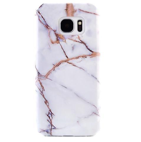 White & Gold Marble Samsung S7 Case