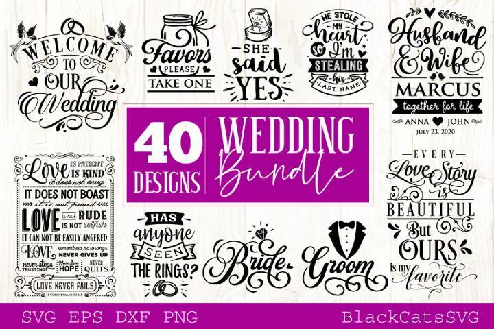 Download Wedding Svg Bundle 40 Designs Vol 2 266199 Svgs Design Bundles In 2020 Design Bundles Free Monogram Fonts Svg Design
