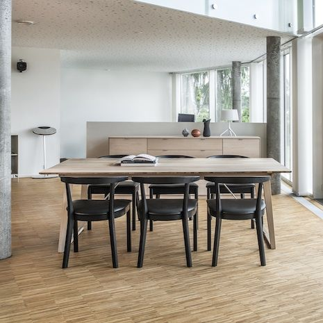Skovby SM38 Dining Table The Has Trapezoidal Sloping Legs And A New Patented Extension