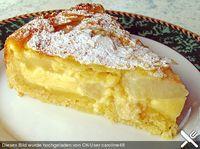 Birnenkuchen mit Vanilleguss