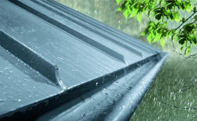 Zinc Roof Eaves with Half Round Gutter