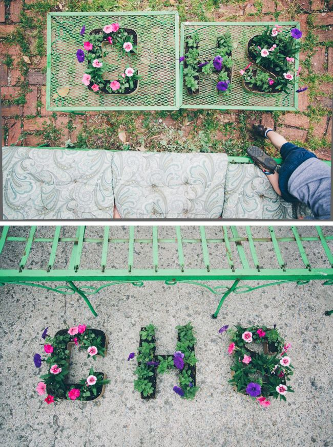 DIY Initial Letter Planters | http://hellonatural.co/diy-initial-letter-planters/
