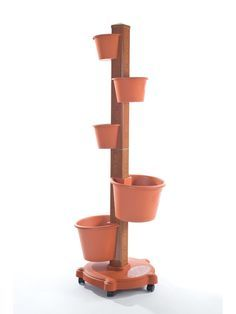 Flower Pot Tower | Vertical Garden | Gardener's Supply...I think I could make this for a lot less money!