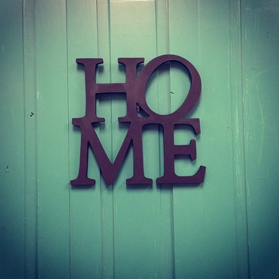 HOME letters. Exclusive from Craft Junction and Artsy