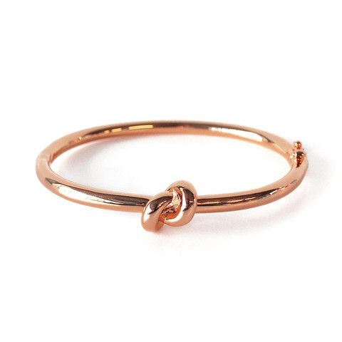 knot rose gold bangle                                                                                                                                                      More