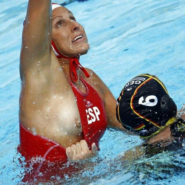 Think, that nipple slip playing water polo