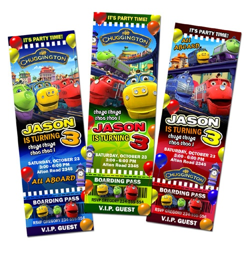 85 best images about Chuggington Birthday – Chuggington Party Invitations