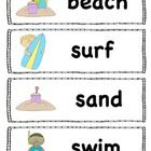 Freebie! Beach words perfect for the pocket chart!  Print on card stock and laminate for durability! :)  graphics from www.mycutegraphics.com...