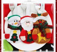 2016 Новый 6 Шт. Елочные Украшения снеговик Серебро Держатели Рождественские украшения для таблицы новый год Декор Дома(China (Mainland))