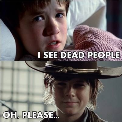 The Walking Dead.   Carl... he he