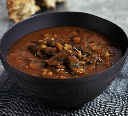 A satisfying and low-fat vegetarian soup that's a good source of folic acid