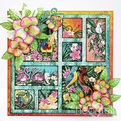 Heartfelt Creations Tropical Frame Card.