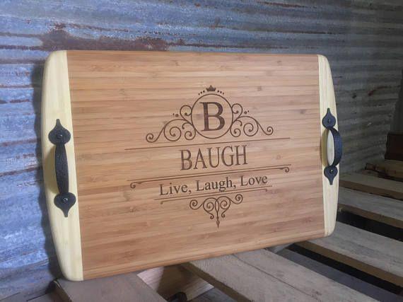 Farm Fresh Bacon Custom Personalized Laser Engraved Gift Farmhouse Kitchen Decor Bamboo Cutting Board