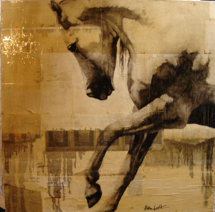 """""""Anitra's Dance""""  4'x4' Mixed Media on Board by my mother in law, Kristin knight"""