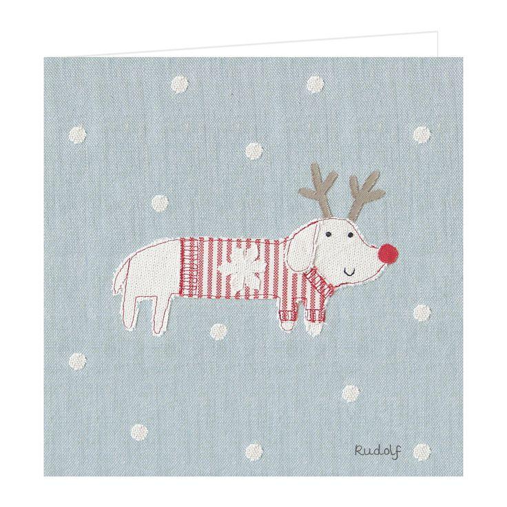 Card Christmas - Rudolf l Susie Watson Designs