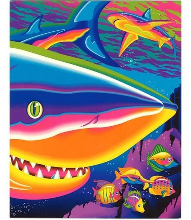 Lisa Frank 1991! 🐠 #LisaFrank #shark #fish #ocean