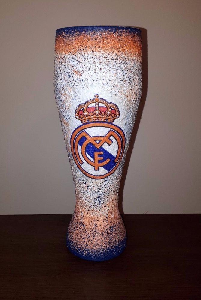 #decoupage #football #realmadrid #bier #glass #footballgift #footballdesign #handmade #footballsouvenir