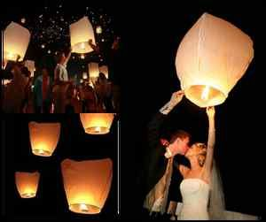 Got my Chinese lanterns in the mail!! Can't wait to do this at our wedding
