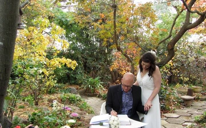 Suzy and Tony married in The Heart Garden in late autumn 2015