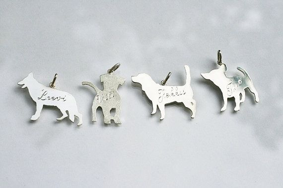 Silver Custom Made Pendant with Your Pets Silhouette
