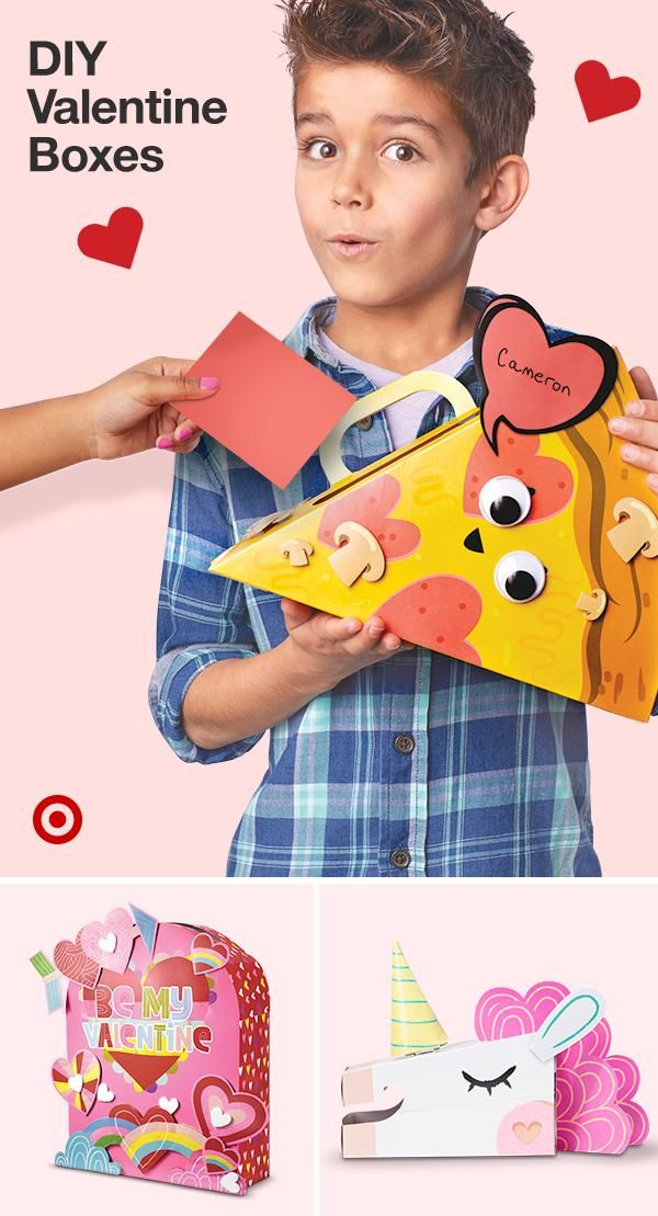 Create Unique Valentines Card Boxes For Class Parties With Craft