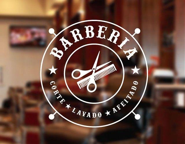 . Vinilo adhesivo de corte para barberías y peluquerías Corte, lavado y afeitado 04753