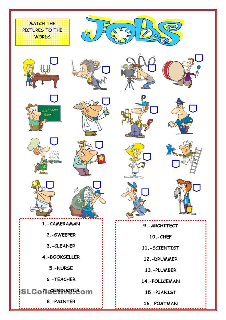 MATCHING PICTURES ESL worksheets of the day Pinterest