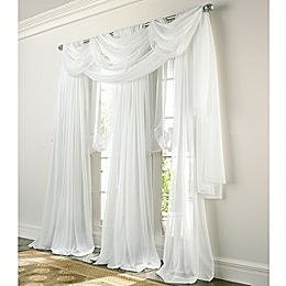 White Sheer Curtains Swag Curtains Dining And Living Room Pinterest Sheer Curtains