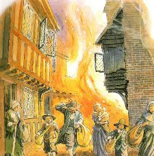 Cute poem about the Great fire of London - 1666