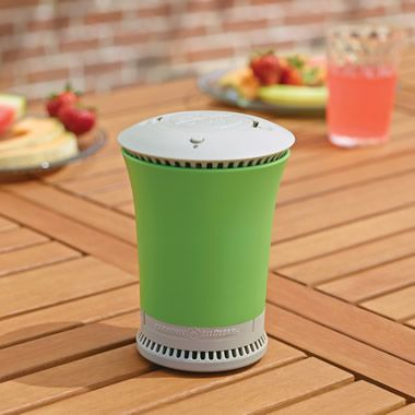 The Portable Tabletop Mosquito Repeller - Hammacher Schlemmer. Emits geranium, peppermint, and lemongrass oils. Love it!
