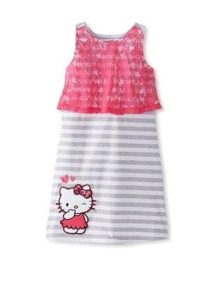 64% OFF Hello Kitty Girl's Lace Ruffle Dress (Fuchsia Purple)