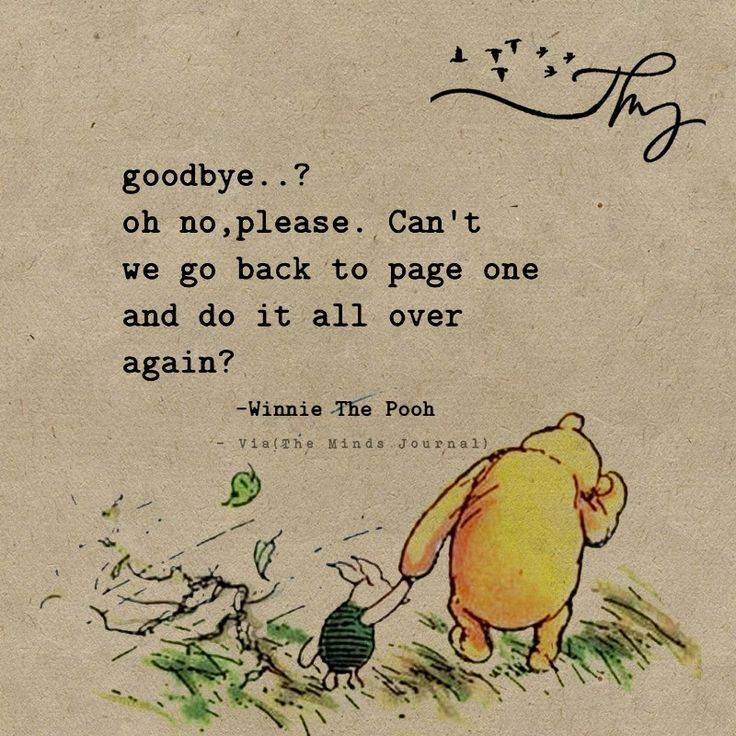 Goodbye?? oh no, please...