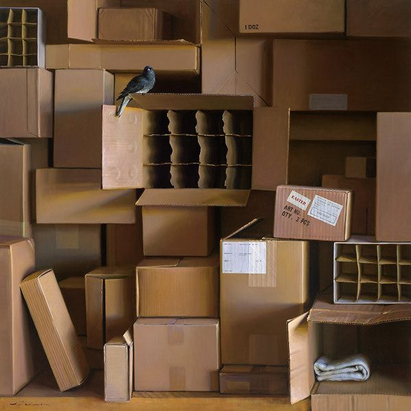 Open Box, oil on canvas, by Jeffrey T. Larson. I am amazed - oil painting, not photograph, wow.
