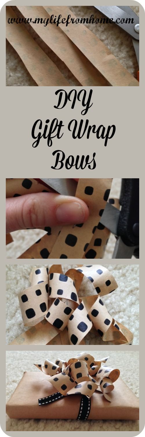 DIY Gift Wrap Bows | My Life From Home | www.mylifefromhome.com