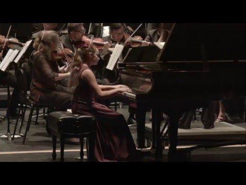 Cassandra Carrasco, 12, performs Mozart's Piano Concerto #23 (Encore: Mo...