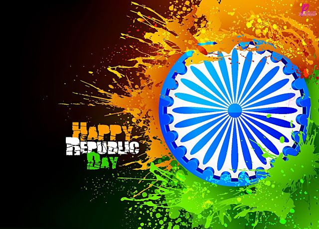 Happy Republic 26 Jan Day Wishes SMS Messages Picture 26 January Republic Day of India Wallpaper Image