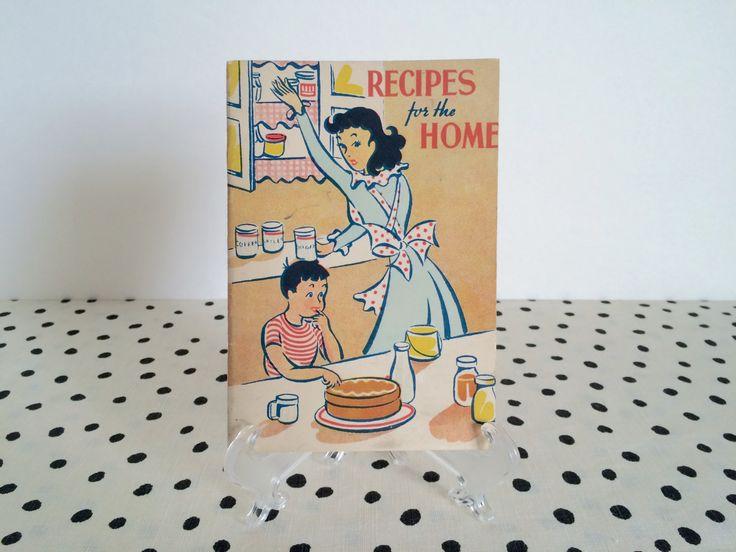 Vintage 1950s Cookbook, 1950s Recipe Booklet, 1950s Kitchen Decor, Tiny Cookbook, Midcentury Cookbook, Vintage Illustration, 1950s Housewife by ForestHillsVintage on Etsy