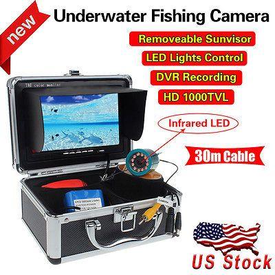 Professional Fish FinderHD 1000 TVL Monitor 30M  Underwater Video Camera Color