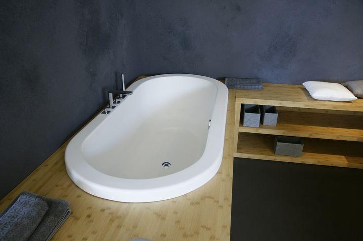 Aquatica Carol-Wht Drop In Light Weight Stone Bathtub - Fine Matte